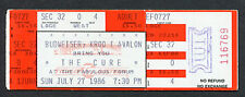 1986 The Cure Unused Full Concert Ticket The Head On The Door Close To Me