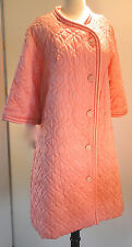 Deadstock New Vintage BARBIZON Cherie At Ease Coral Satin De Lys Robe Medium