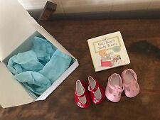 American Girl Bitty Baby Shoes Lot Of 2 Pink Red Mary Jane New Retired