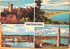 Irish Postcard WATERFORD Multiview Lismore Tramore River Suir Ireland John Hinde