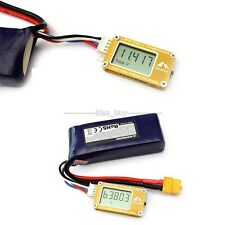 Digital LCD Voltage power display Monitor W/ Alarm FOR 2-6S Lipo/ LiFe Battery