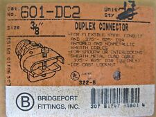 "Bridgeport 601-DC2 3/8"" Duplex Connector Lot of 17"