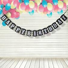 HAPPY BIRTHDAY Banner Garland Bunting Sign Photo Props for Birthday Party
