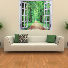 DIY Window 3D Green View Removable Wall Stickers Art Mural Home Room Decal