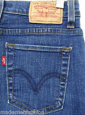 LEVI'S 512 JEANS PERFECTLY SLIMMING sz 6M womens blue denim#537