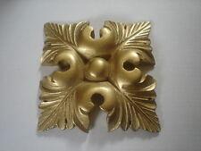 DECORATIVE MOULDING ~LARGE SQUARE LEAF ~ ANTIQUE GOLD PLASTER