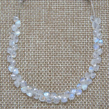 Rainbow Moonstone Faceted Heart Briolette 5mm x 5mm  Semi-Precious Gemstones