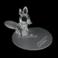 "SWAROVSKI Crystal ""LARGE FOX"" Frosted Nose. Mint Condition in Box. COA."