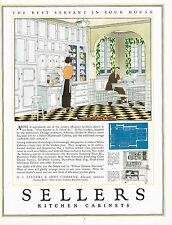 1920's BIG Vintage Sellers Kitchen Cabinets Cabinet Retro Decor Art Print Ad b