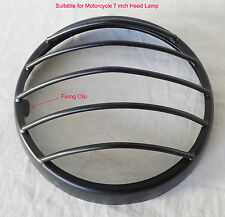 "ROYAL ENFIELD CUSTOMISED BLACK HEADLIGHT RIM OUTER and GRILL FOR 7"" HEAD LAMP"