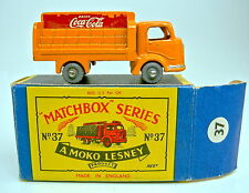 Matchbox RW 37A Coca Cola Truck orange rare Plastikräder in Box