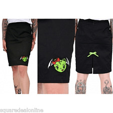 77275 Vixen Zombie Bat Pencil Skirt Pinup Goth Punk Stretch Sourpuss Medium M