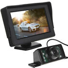 Car Rear View System Backup Reverse Camera Night Vision + 4.3