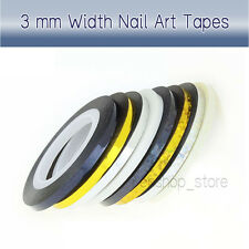 3mm Nail Art Striping Roll Tape Line Transfer Nail Sticker Nail Tip Decoration