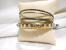 NEW MIX IT FOUR STRAND BRACELETS IN GOLD TONES AND SILVER TONES - NICE