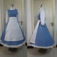 BEAUTY AND THE BEAST BELLE DRESS BLUE DISNEY MOVIE 14 16 COSTUME
