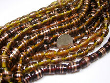 1 KILO 2.2 POUNDS MIXED INDIA GOLD SWIRL BEADS (BD406D)
