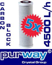 5 x PCB 4500L/h 10 µm Carbon Filter Kalkflocken Wasserfilter Trinkwasserfilter