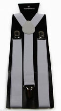 NAVY GENTS MENS 35mm WIDE ADJUSTABLE BRACES SUSPENDERS ELASTIC PLAIN CLASSIC