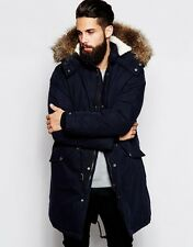BRANDED Mens Fishtail Parka Coat With Thinsulate Size XXXS  Navy RRP £100