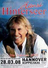 HINTERSEER, HANSI - 2008 - Konzertplakat - Concert - Tourposter - Hannover