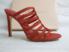 BCBGeneration BCBG Size 8 M Callie Red Leather Heels New Womens Shoes NWOB