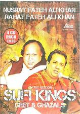 RAHAT FATEH ALI KAHN - NUSRAT FATEH ALI KHAN - SUFI KINGS - NEW 4CDs SET