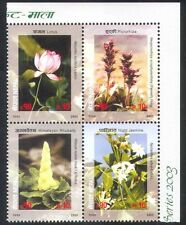 Nepal 2003 Lotus/Jasmine/Flowers/Plants/Nature 4v blk (n38818)