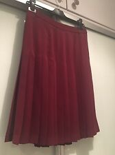 BCBG MAXAZRIA Pleated Burgundy Skirt (Size US2)
