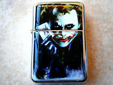 THE JOKER CARD STAR BRAND CIGARETTE OIL FLIP LIGHTER & EXTRA ZIPPO FLINTS