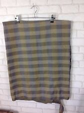 Vintage 1960 Grey and Yellow Check Square Pattern Fabric Material