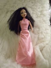 DOLL CLOTHES FITS BARBIE/ MY SCENE DOLLS  SOFT PINK GOWN  SATIN BOTTOM 1 PC