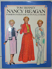 Nancy Reagan Fashion Paper Dolls In Full Color Tom Tierney New