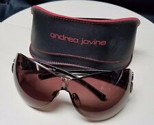 Andrea Jovine Colors In Optics Oversized Brown Gold Sunglasses Shades A618 GLD