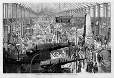 GENERAL VIEW OF THE SOUTH NAVE OF MACHINERY HALL CANNONS GERMANY IRELAND HISTORY