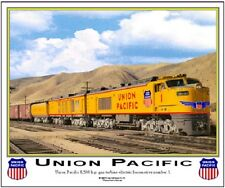 "UNION PACIFIC "" Turbine-Electric Locomotive"" RAILROAD TIN SIGN  /Train Wall Art"