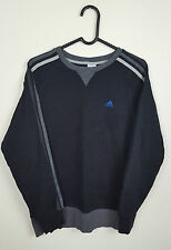 VTG RETRO MENS ATHLETIC SPORTS OVERSIZED BLACK ADIDAS SWEATSHIRT JUMPER VGC UK S