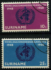 Suriname 1968 SG#631-2 World Health Organisation Cto Used Set #D34438