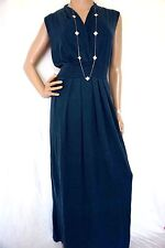 PERUVIAN CONNECTION Cotton Knit dark Forest Green Maxi Boho fitted Dress L-XL
