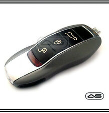 Carbon Grey Key Fob Cover Porsche Keyless Remote Case Casing Housing 2 3 Button