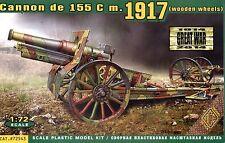 ACE 1/72 72543 WWI Cannon de 155 C M.1917 (Wooden Wheels, Horse Drawn Version)