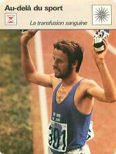 FICHE CARD Transfusion Sanguine Lase Viren Athletics Finland running 70s