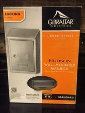 Gibraltar Hudson Locking Wall Mount Mailbox - Stainless Steel-New in box