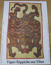 GERMAN EXHIBITION POSTER 1989 - TIGER CARPETS FROM TIBET art print