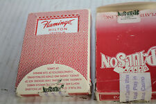 FLAMINGO HOTEL CASINO LAUGHLIN NV PAULSON NO.1 RED PLAYING CARDS red in RED box