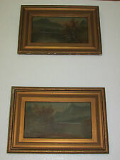 A Pair Of Antique Oil Paintings On Board, Signed By W. Collins - 1907