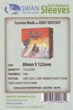 170 standard 80x122mm Swan card sleeves for Dixit