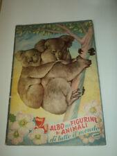 ALBUM ANIMALI DI TUTTO IL MONDO LAMPO ANNO 1951 OTTIMO COMPLETO NO PANINI