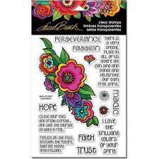 New STAMPENDOUS Clear cling rubber stamps LAUREL BURCH FLORAL REFLECTIONS