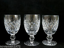 3 Waterford Crystal Claret Red Wine Glasses Goblets Boyne imperfect